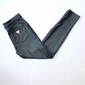 Guess Jeans 1981 Power Skinny Coated Black